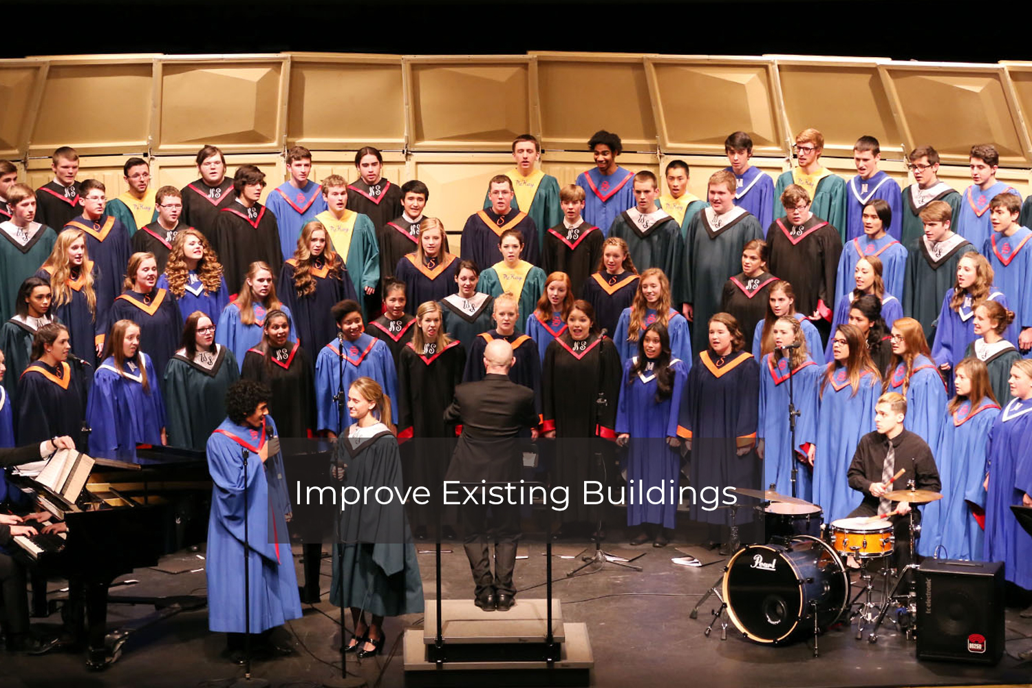All City High School Honor Choir Performing on a stage